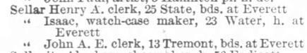 Boston Directory 1890 1158a Sellar