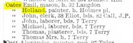 Boston Directory 1890 983a Oates