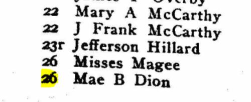 Brockton Directory 1919 86 Dion
