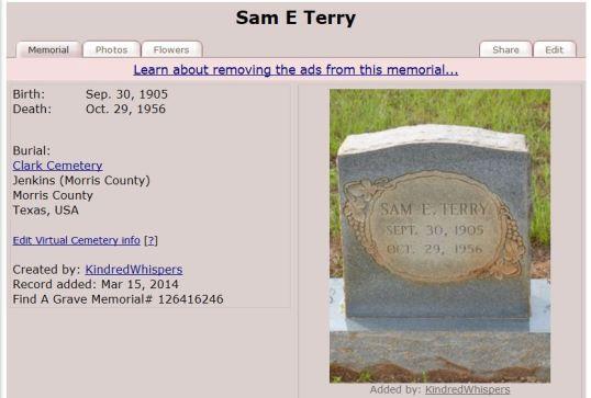 Sam E Terry